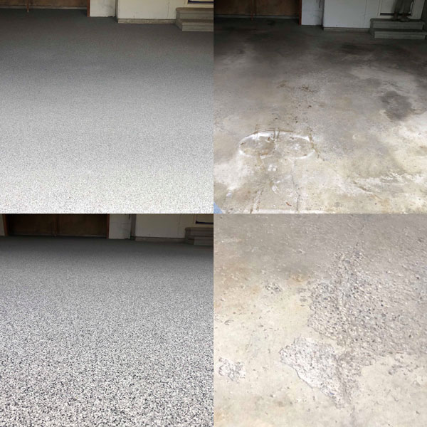 garage before and after floor coating
