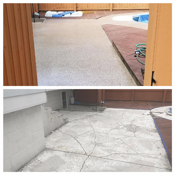 before and after floor coating